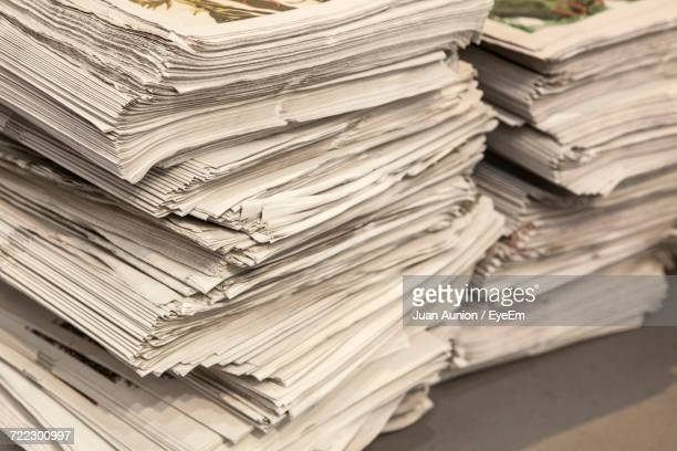 Close-Up Of Stack Of Paper