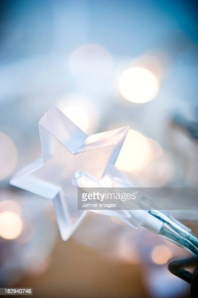 Close-up of star-shaped fairy light