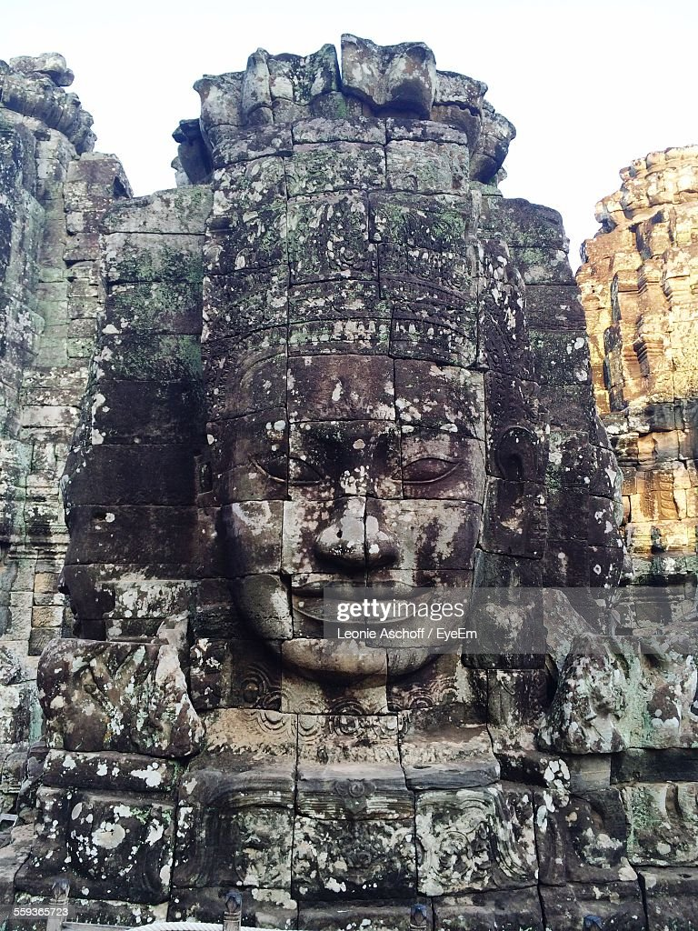 Close-Up Of Statue In Bayon Temple
