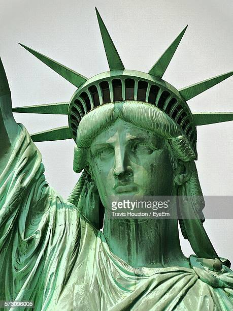 Close-Up Of Statue Of Liberty Against Clear Sky