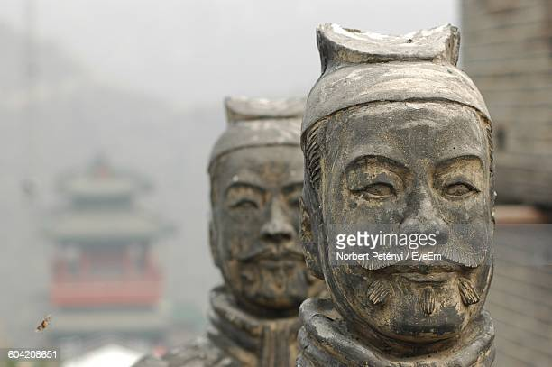 Close-Up Of Statues At Great Wall Of China
