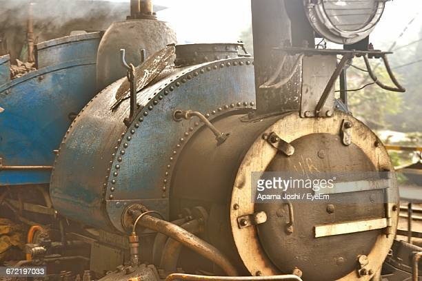 Close-Up Of Steam Train Engine