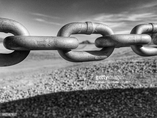 Close-Up Of Steel Chain