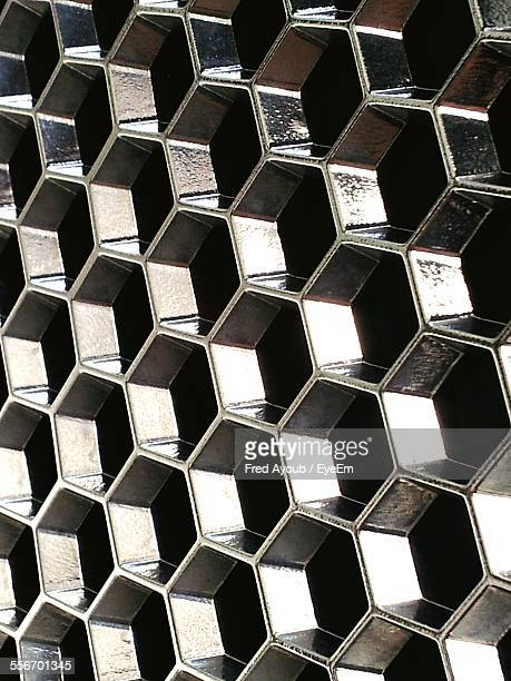 Close-Up Of Still Grate Pattern