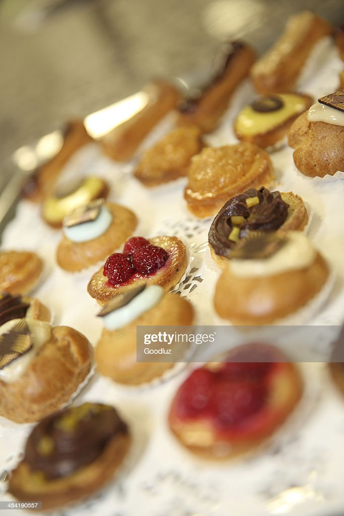 Closeup of succulent pastries : Stock Photo