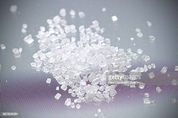 Close-Up Of Sugar Crystals On Table