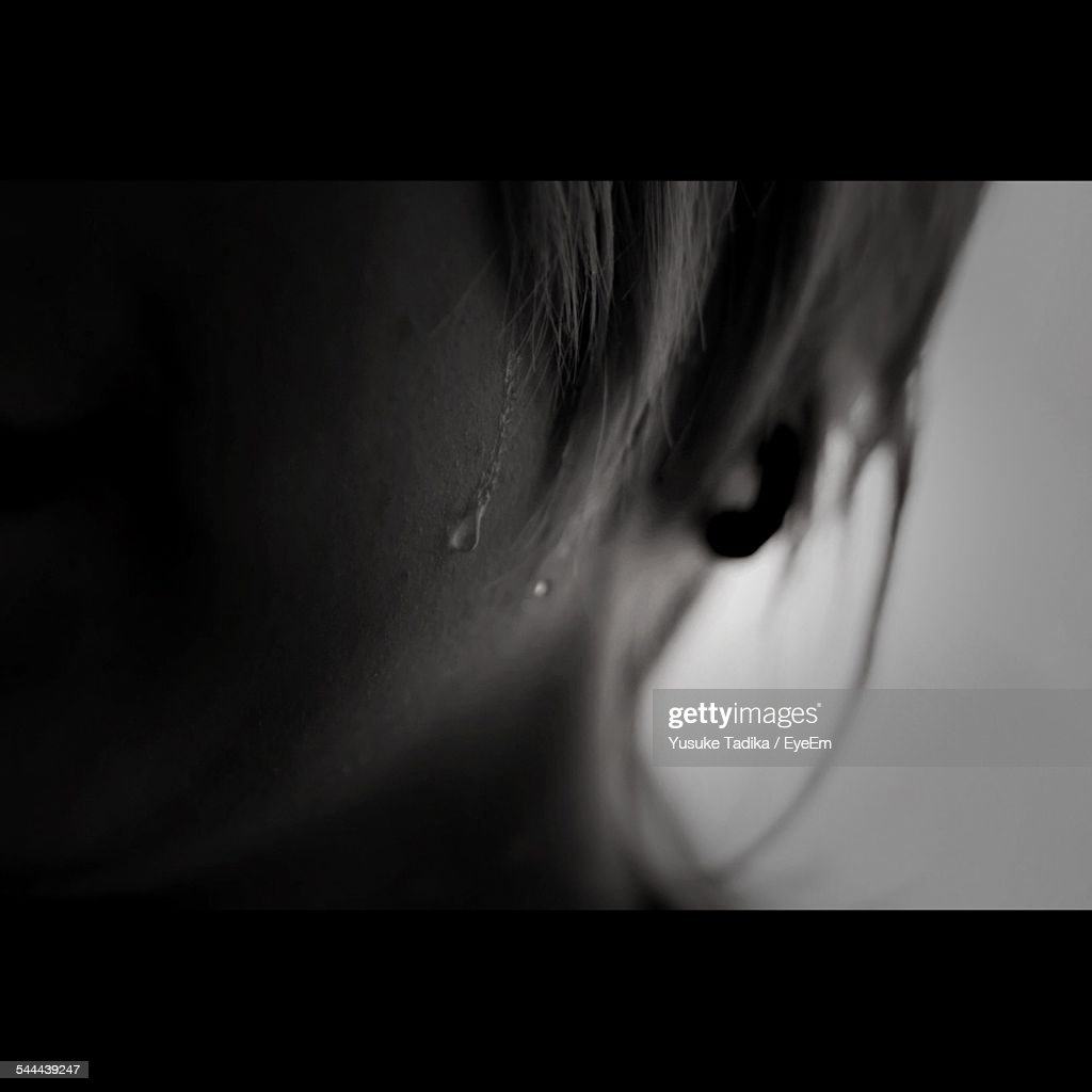 Close-Up Of Sweat On Woman Face : Foto stock