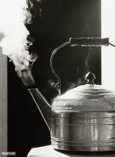 Close-up of Teapot with Steam