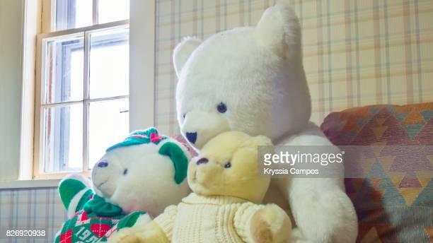 Close-Up Of Teddy Bear On Sofa