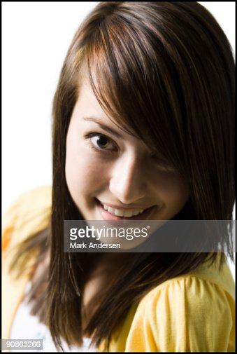 Closeup of teenage girl