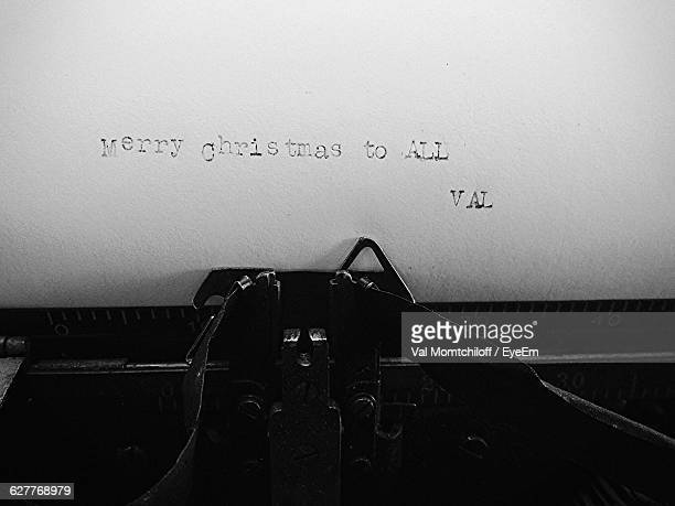 Close-Up Of Text On Paper In Typewriter