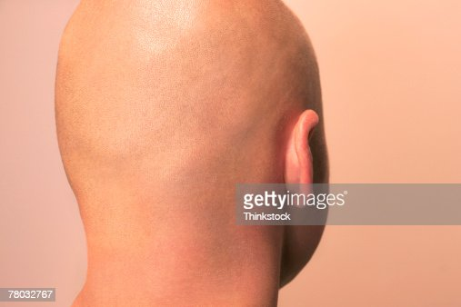 man video vagina head Bald in