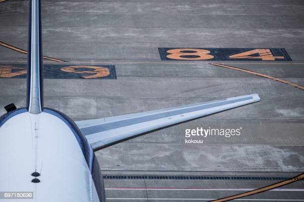 Close-up of the back of the plane.