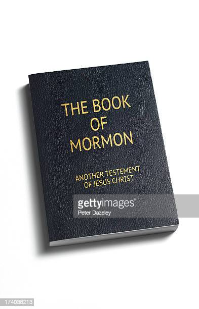 Close-up of the book of Mormon