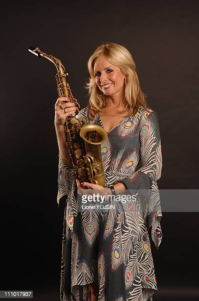 CloseUp of the Dutch altosaxophonist Candy Dulfer at the Montreux Jazz Festival in Montreux Switzerland on July 18th 2007