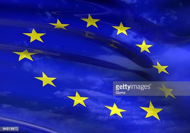 EU-Flagge 3D