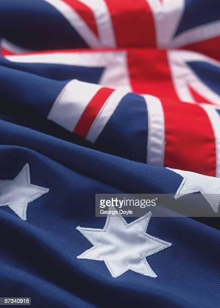 close-up of the flag of Australia