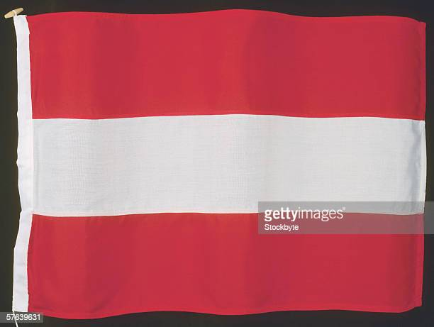 Close-up of the flag of Austria