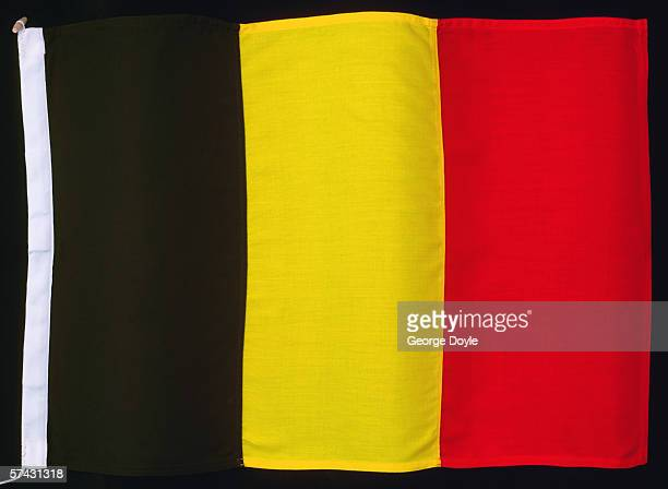 Close-up of the flag of Belgium