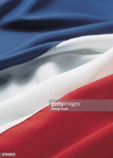 Close-up of the flag of France