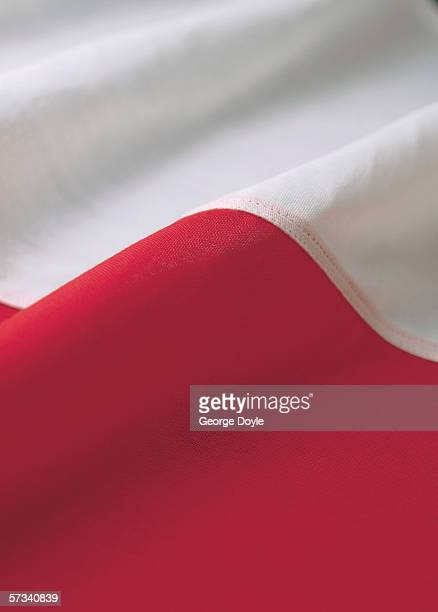 Close-up of the flag of Poland