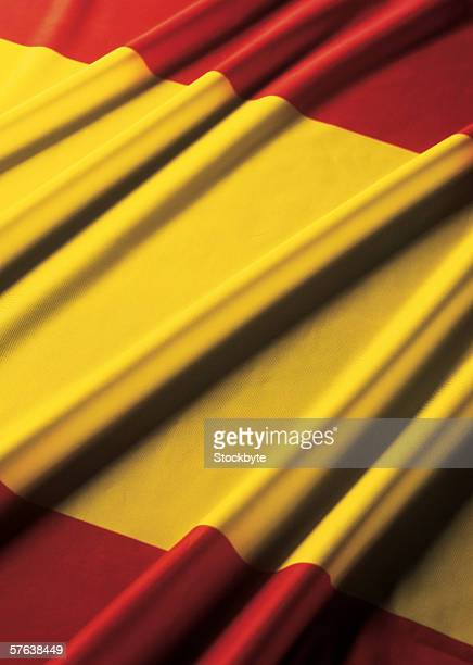 Close-up of the flag of Spain