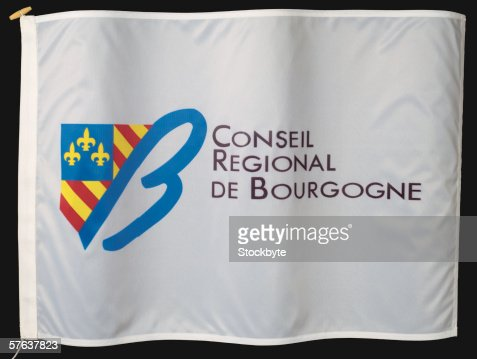 Close-up of the flag of the conceal regional de Bourgogne : Stock Photo