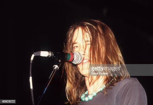 Closeup of the lead singer Matt Wilson of Trip Shakespeare 1990s New York