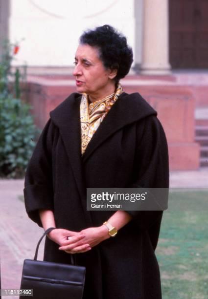 Closeup of the primer Minister of the India Indira Gandhi New Delhi India