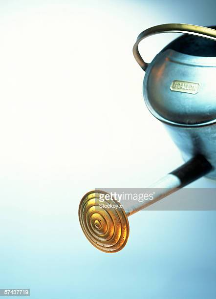 close-up of the spout of a watering can