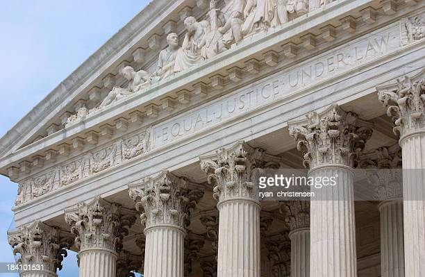 Close-up of the Supreme Court building