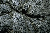 Close-up of the surface of molten rock