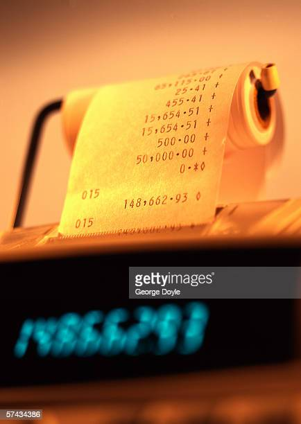 close-up of the total amount on a billing machine