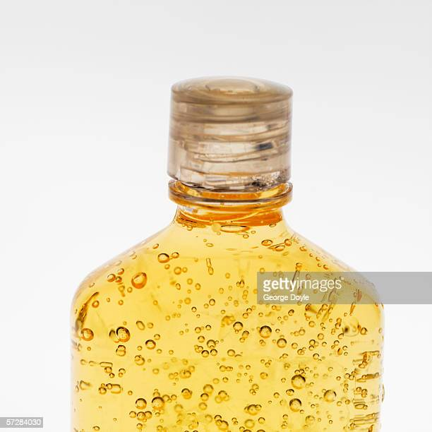 Close-up of top of bottle of shampoo