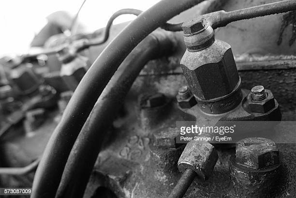 Close-Up Of Tractor Engine