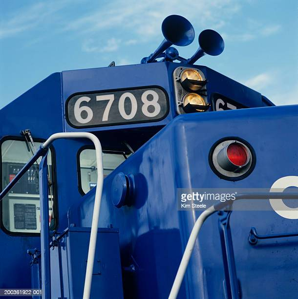 Close-up of train, Train engine manufacturing, train yard
