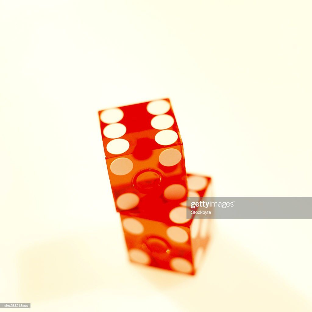 Close-up of two dices : Stock Photo