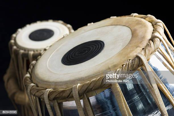 Close-up of two tablas