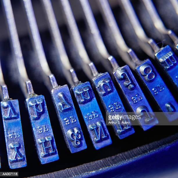 Close-Up of Typewriter Keys