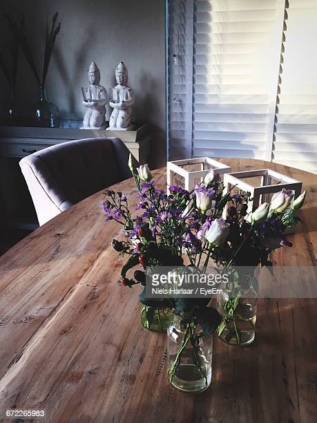 Close-Up Of Vases On Table