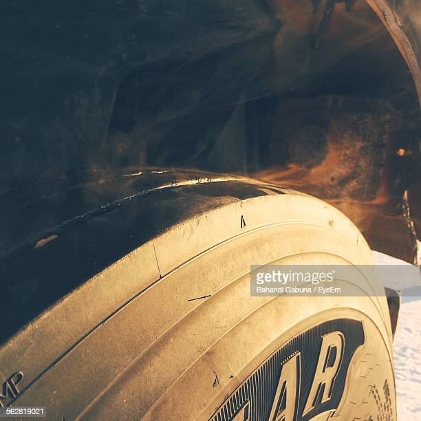 Close-Up Of Vehicle Tire
