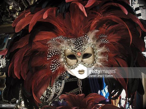 Close-Up Of Venetian Mask At Market Stall