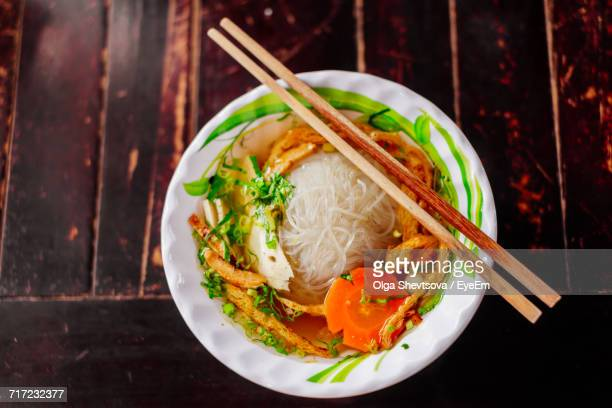 Close-Up Of Vietnamese Pho Noodle Soup In Bowl