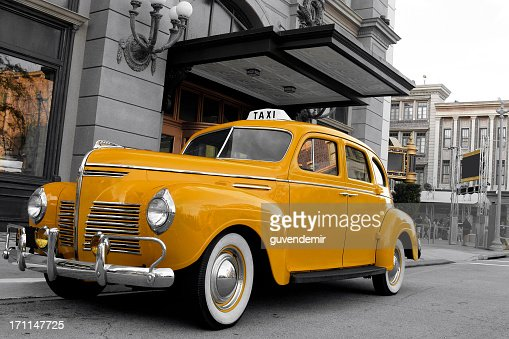 yellow taxi stock photos and pictures getty images. Black Bedroom Furniture Sets. Home Design Ideas
