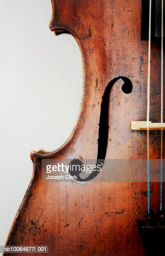 Close-up of violin, studio shot : Stock Photo