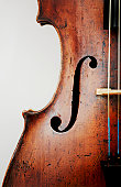 Close-up of violin, studio shot