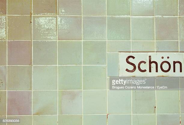 Close-Up of Wall Covered With Tiles At Subway