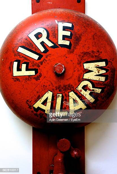 Close-Up Of Wall Mounted Fire Alarm Bell