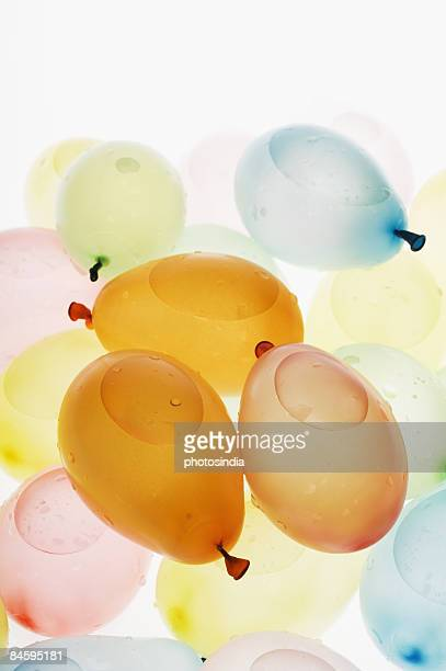 Close-up of water bombs