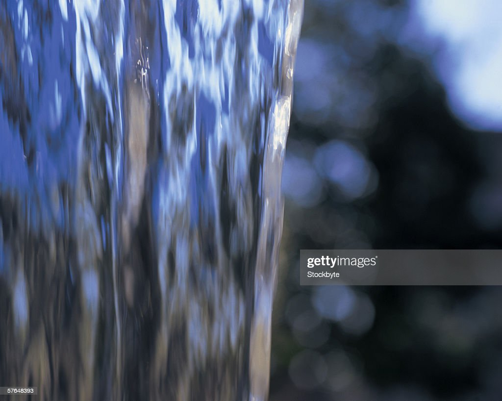close-up of water flowing (blurred) : Stock Photo